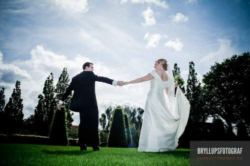 make wedding pictures in the sunshine